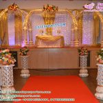Glorious Wedding Fiber Elephant Tusk Mandap