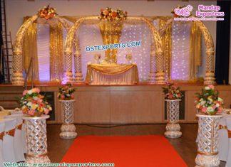 Glorious Wedding Fiber Elephant Tusk Mandap
