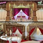 Stylish Golden Bollywood Wedding Mandap