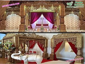 Stylish Golden Bollywood Wedding Mandap