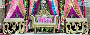 Wedding Stage Love Seat Couch With Automans