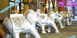 Wedding Walkway Elephant FRP Statues