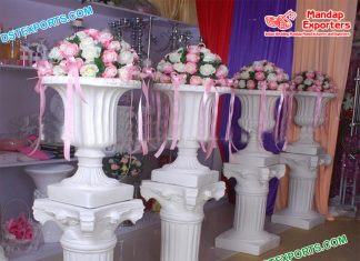 Western Wedding Flower Pots Aisleway Decoration