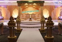 AttractiveTri Pillar Indian Wedding Mandap