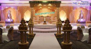 AttractiveTri Pillar Indian Wedding Mandap