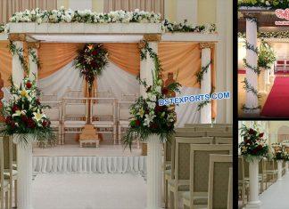 Best Indian Wedding Roman Pillar Mandap