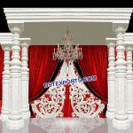 Designer White Wedding Mandap Mauritius