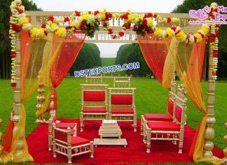 Exclusive Wedding Sankheda Mandap Chair Set