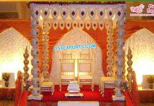 FRP Pot Pillar budget Wedding Mandap