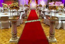 Glamorous Wedding Event Walkway Pillars Durban