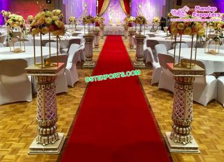 Glamorous Wedding Event Walkway Pillars Durban