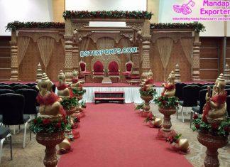 Gorgeous Indian Wedding FRP Mandap UK