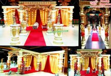 Gorgeous Wedding Dev Pillar Mandap Netherland