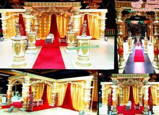 Gorgeous Wedding Dev Pillar Mandap Netherland