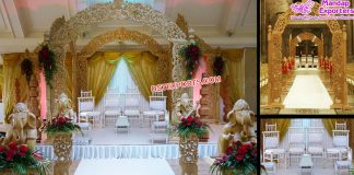 Gorgeous Wedding Wooden Carved Mandap Hemburg