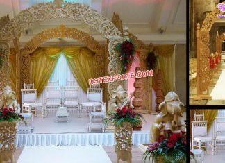 Gorgeous Wedding Wooden Carved Mandap Hemburg
