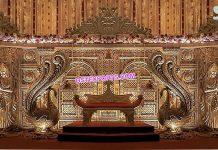 Grand Wedding Radha Krishna Stage Decor Paris