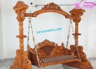 Gujarati Wedding Wooden Handicraft Swing