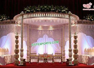 Gujarati Wedding Wooden Sankheda Mandap