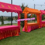 Indian Wedding Decorated Food Stalls