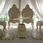 Indian Wedding White Mandap Chair Set