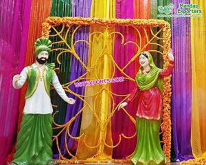 Latest Fiber Punjabi Statues For Entrance