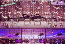 Lavish Wedding Stage Candle Walls USA