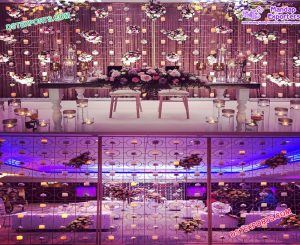 Lavish Wedding Stage Candle Walls USA