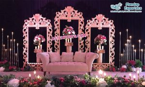 Luxury Wedding Stage Decoration Back Frames