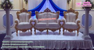 Maharaja Wedding Wooden Carved Furniture Set
