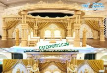 Marathi Wedding Wooden Handicraft Mandap Set