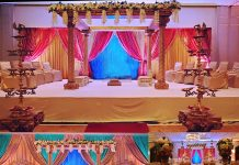Marvelous Spiral Pole Wedding Mandap For Sale