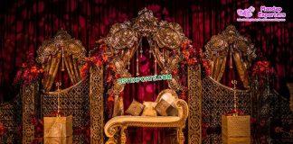 Modern Wedding Stage Metal Back Frames Props