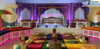 Muslim Mehndi Stage Decoration UK