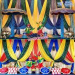 Punjabi Mehndi Sangeet Stage Decoration Props