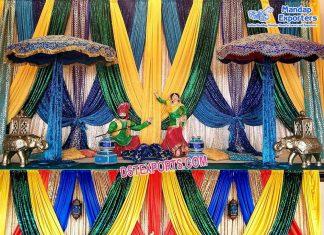 Punjabi Mehndi Sangeet Stage Decoration Props