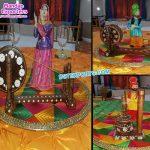 Punjabi Wedding Decoration Phulkari Table Overlays