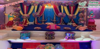 Punjabi Wedding Sangeet Stage Decoration UK