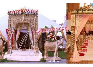 South Asian Wedding Golden Mandap Sydney