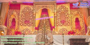 South Indian Wedding Stage Decoration Frames