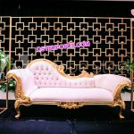 Splendid Wedding Metal Candle Back Walls