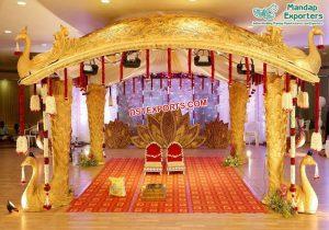 Srilankan Manavarai Peacock Wedding Mandapam