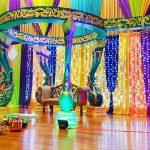 Srilankan Wedding Colorful FRP Peacock Mandap