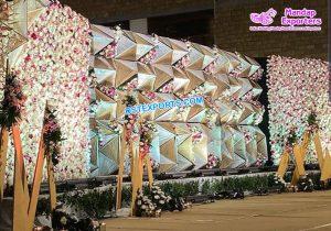 Stunning Wedding Diamond Stage Back Frames Panels