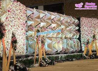 Stunning Wedding Diamond Stage Back Frames Panels
