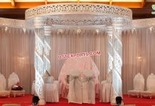 Stunning Wedding Spiral Crystal Mandap NZ