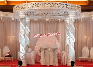 Stunning Wedding Spiral Crystal Mandap NZ