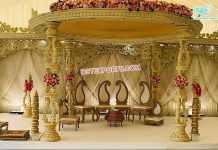 Top Quality Wooden Wedding Mandap Sweden