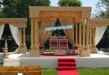 Traditional Wedding Triple Pole Mandap Germany