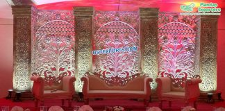 Trending Wedding Stage Decoration Back Frames
